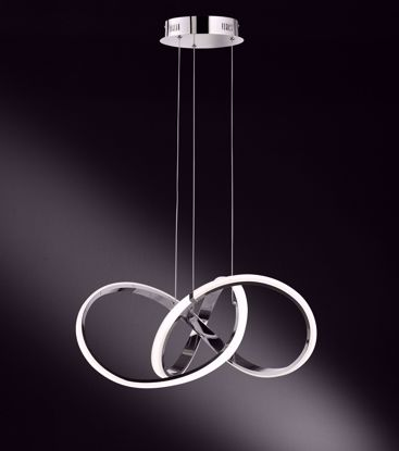 Picture of INDIGO Chrome LED Pendant Chandelier