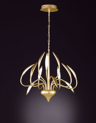 Picture of HAMPTON Gold Foiled LED Pendant Chandelier